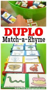 DUPLO Rhyming Matching Game