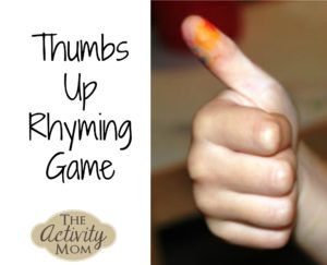 Thumbs Up Rhyming Game