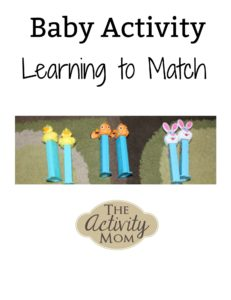baby activity learning to match