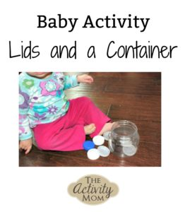 baby activity lids and a container logo