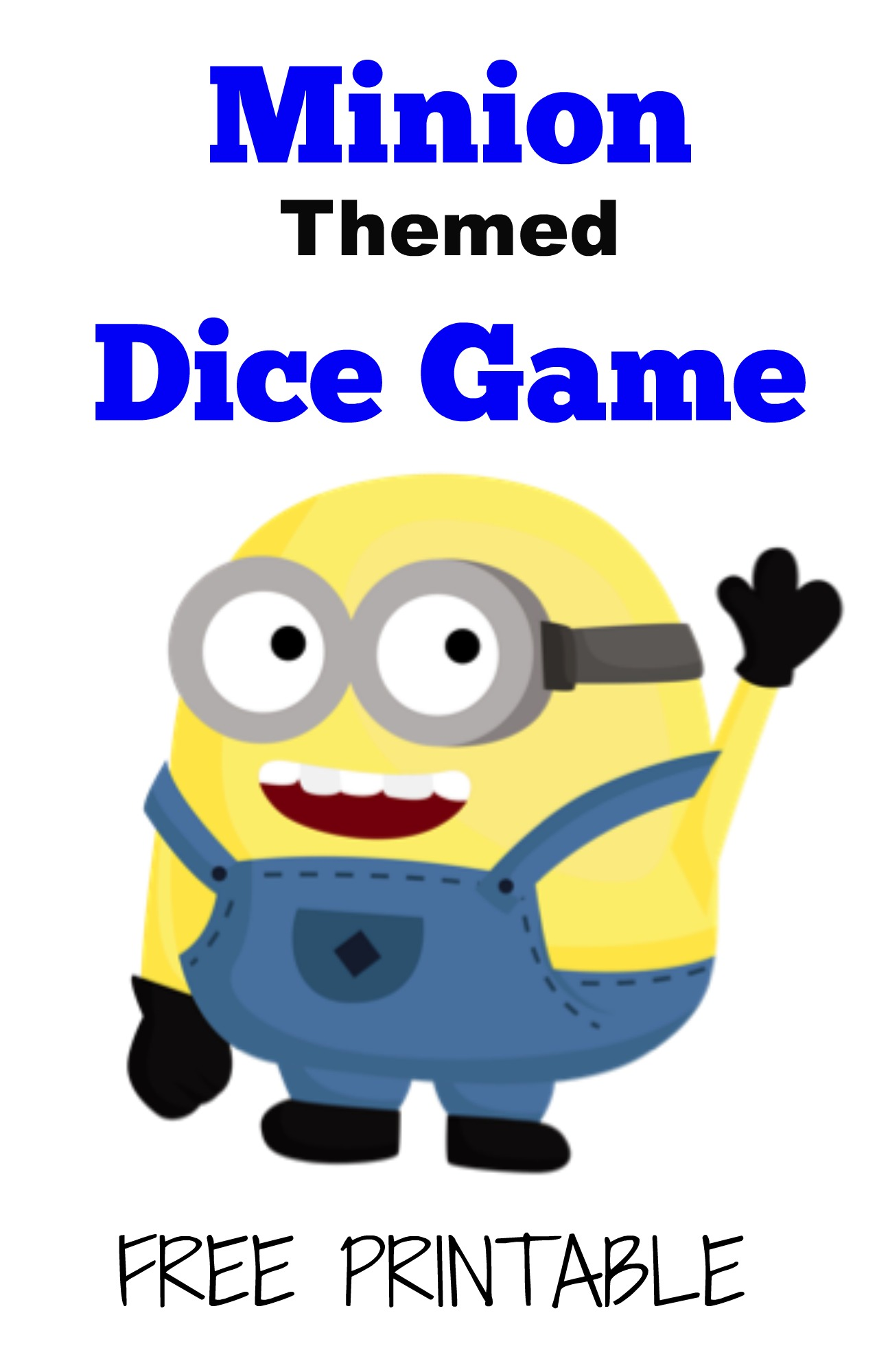 Free, Printable Minions Dice Game