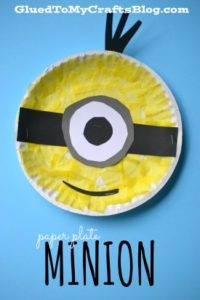 Minion Paper Plate Craft