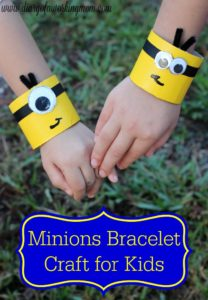 Minions-Bracelet-Craft-for-Kids