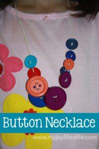Corduroy Button Necklace