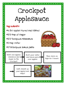 Giving Tree Crockpot Applesauce