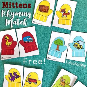 The Mitten Rhyming Game