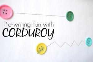 Corduroy Tracing Activity