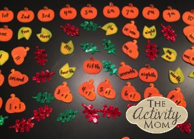 Fall Math Sorting Game