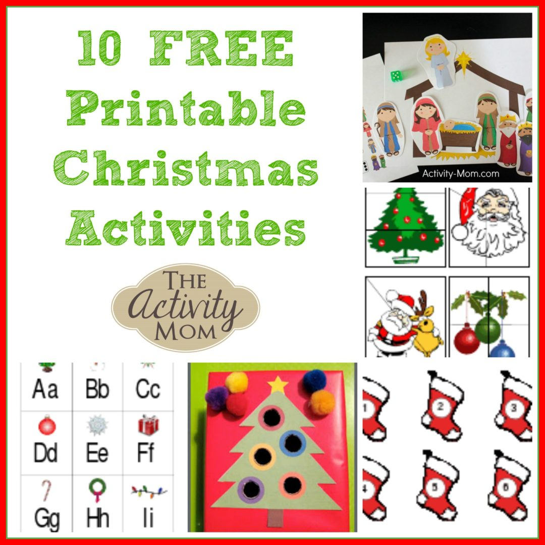 picture regarding Printable Christmas Activities identified as The Game Mother - 10 Cost-free Printable Xmas Things to do