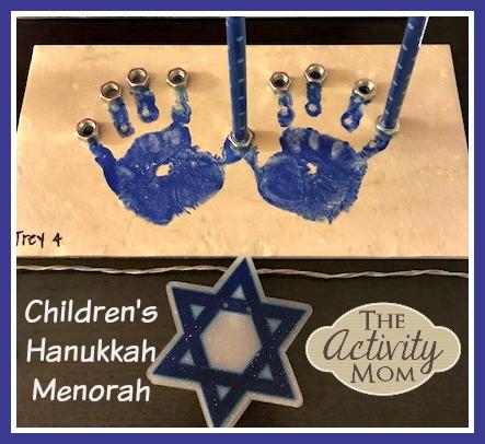 Make Your Own Children's Hanukkah Menorah