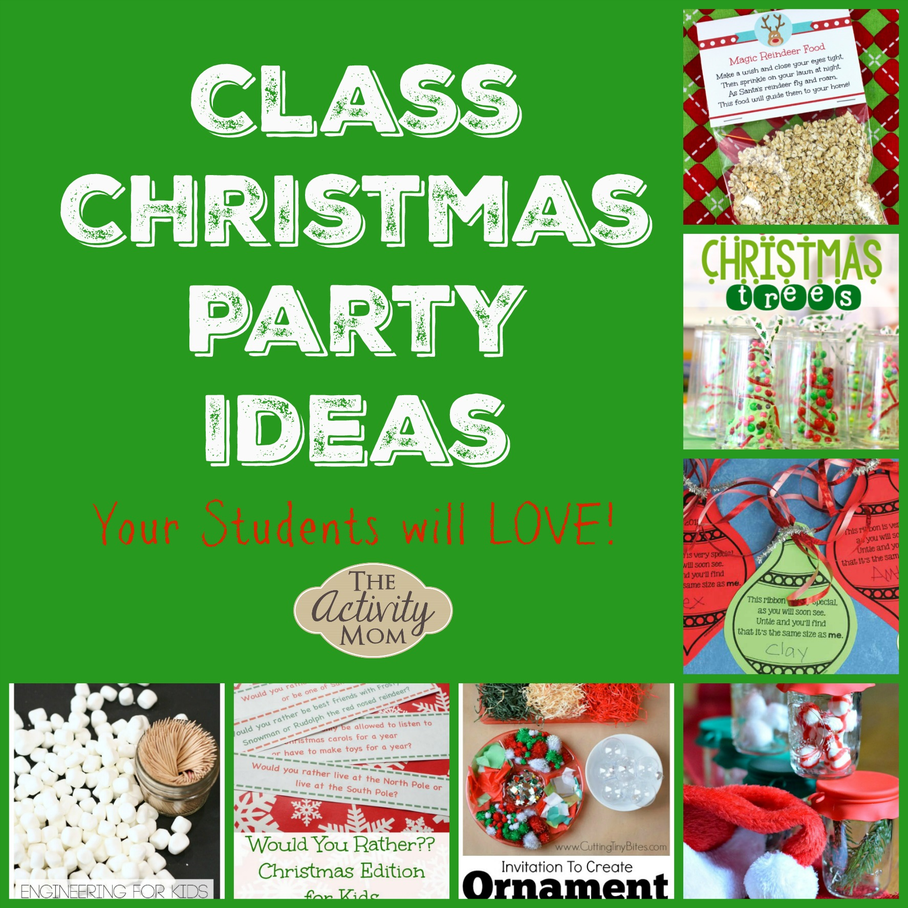 Christmas Party Ideas For School Part - 48: ... Party Ideas To Celebrate With On Their Last Day Of School Before  Vacation. Hereu0027s A Collection Of Class Christmas Party Ideas That Are Sure  To Be A Hit ...