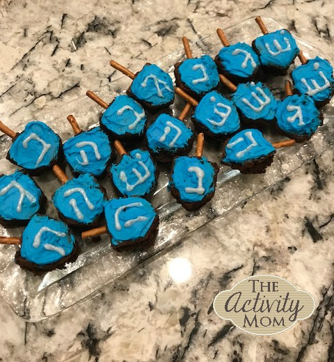 How to Make Dreidel Brownies with Your Kids