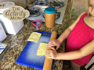 Cooking with Kids - Peanut Butter Roll Ups