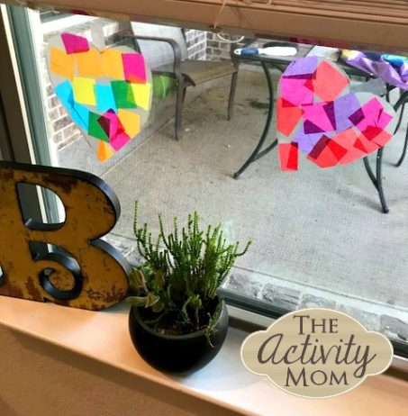 Valentine's Day SunCatcher Craft for Kids