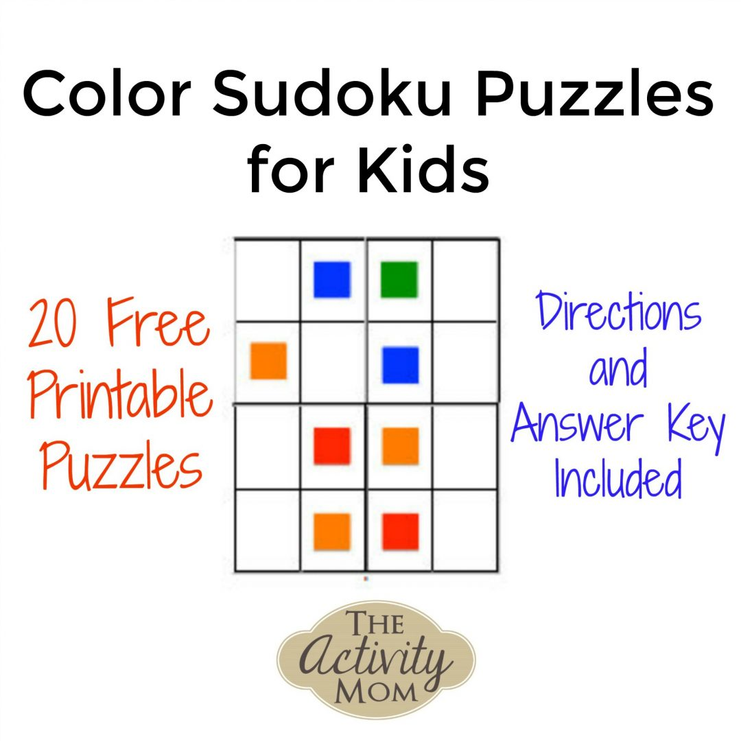 image regarding Printable Sudoku for Kids titled The Recreation Mother - No cost Printable Colour Sudoku Puzzles for