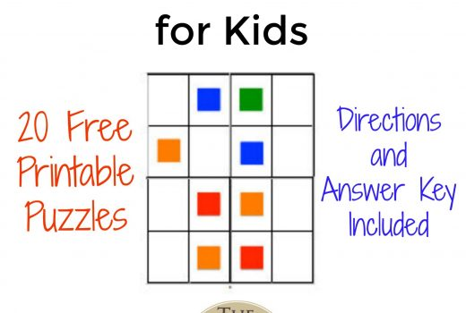 Free, Printable Color Sudoku Puzzles for Kids