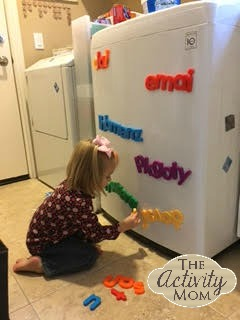 Sorting Magnetic Letters