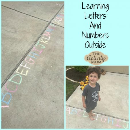 Learning Letters and Numbers Outside