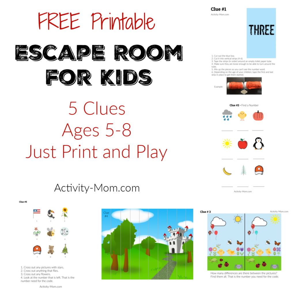 Free Printable Escape Room for Kids