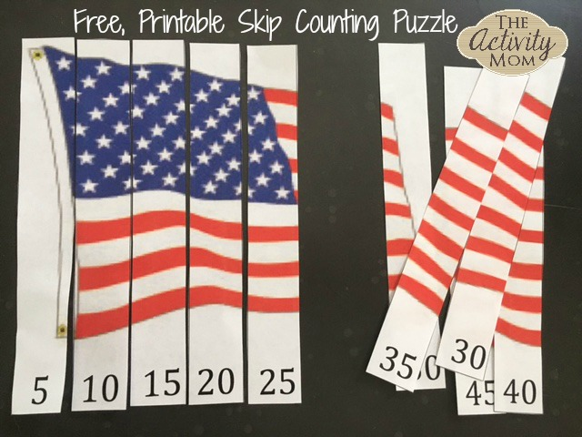 Free Printable Skip Counting Puzzle