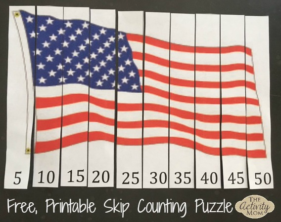 picture about Printable Usa Flag called The Game Mother - American Flag Printable Miss Counting