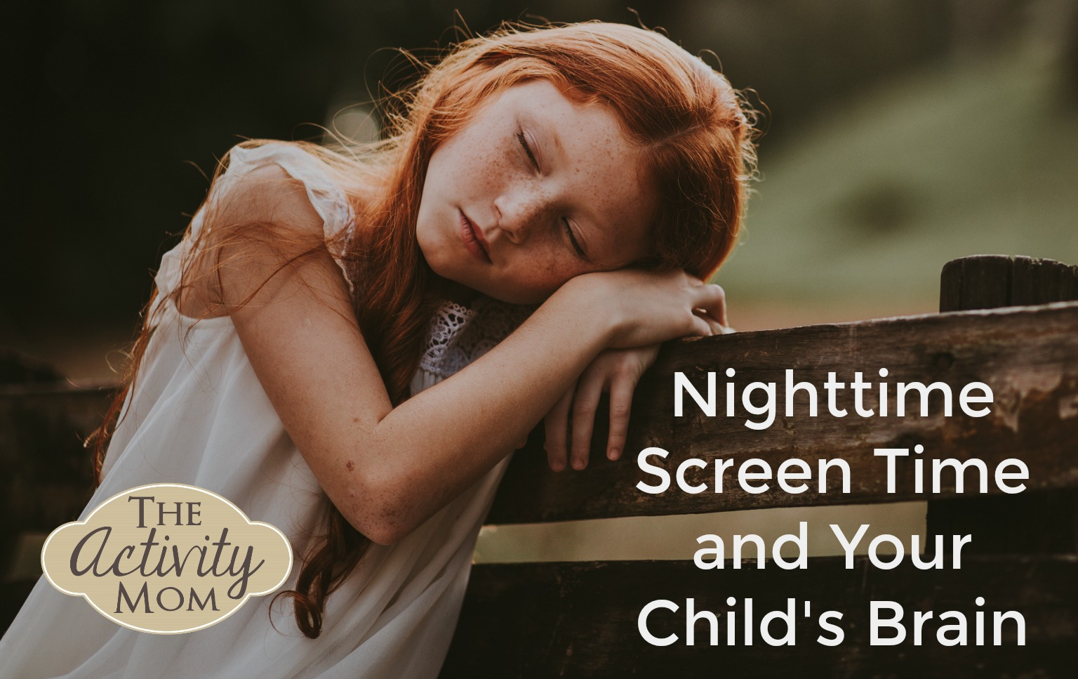 Nighttime Screen Time and Your Child's Brain