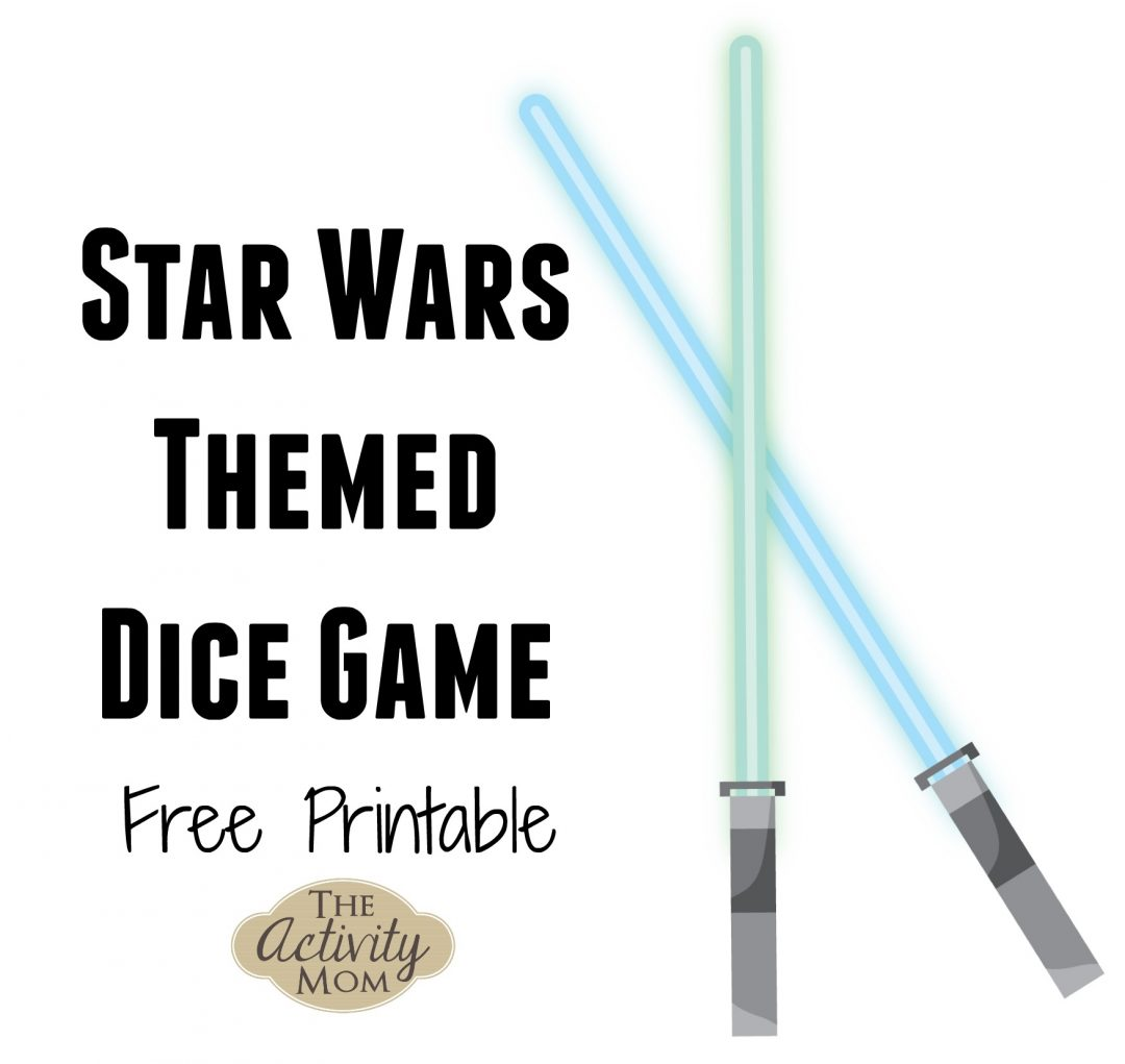 picture regarding Printable Dice known as The Match Mother - Star Wars Cube Recreation Totally free Printable - The