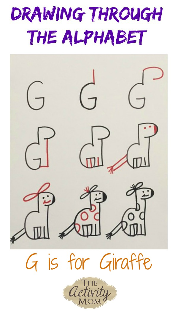 Teaching Kids How to Draw G is for Giraffe