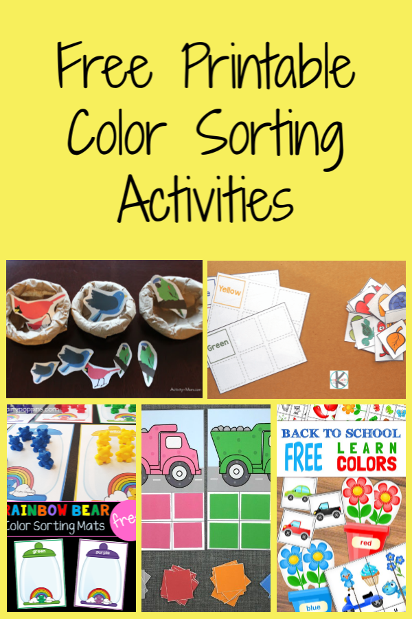 Free Printable Color Sorting Activities