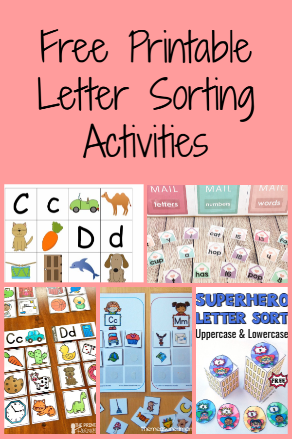 Free Printable Letter Sorting Activities