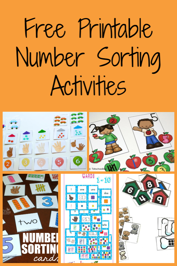 Free Printable Number Sorting Activities