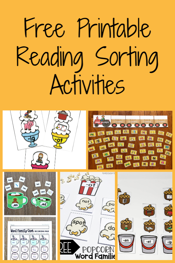 Free Printable Reading Sorting Activities