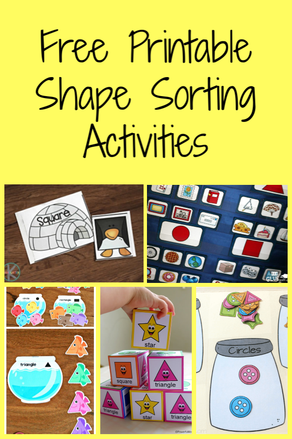 Free Printable Shape Sorting Activities
