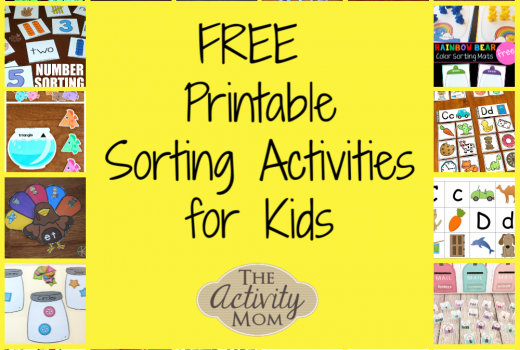 Free Printable Sorting Activities for Kids