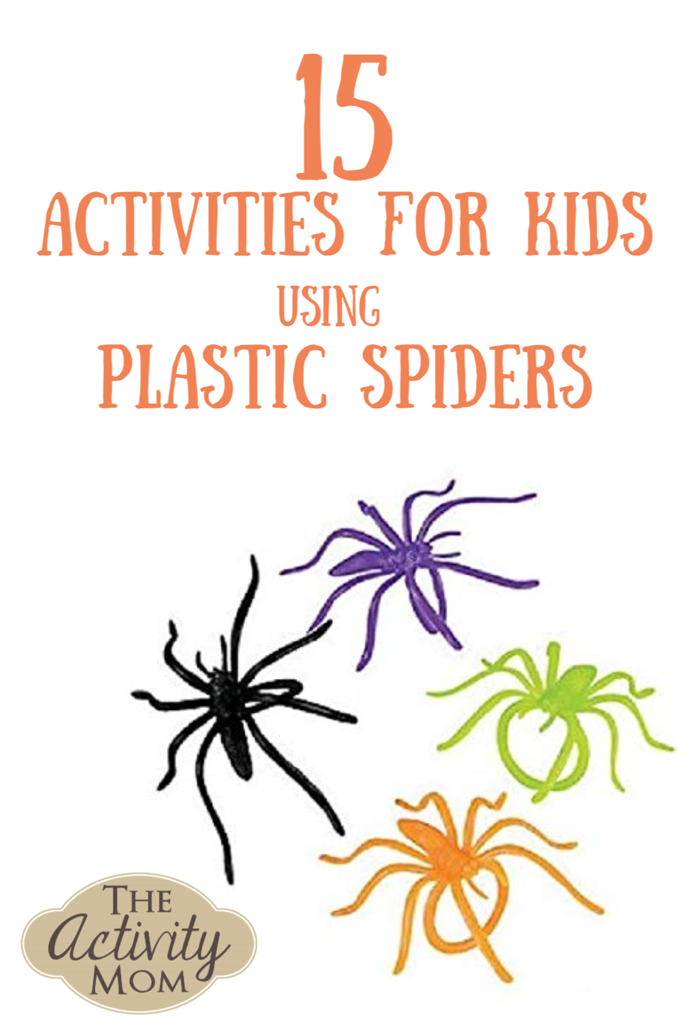 Kids Activities with Plastic Spiders