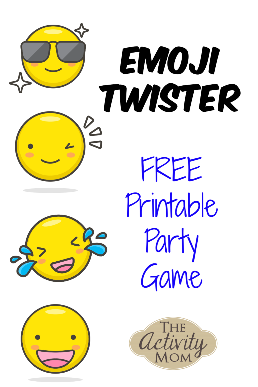 photo regarding Finger Twister Printable named The Game Mother - Emoji Twister Occasion Sport - The Sport Mother