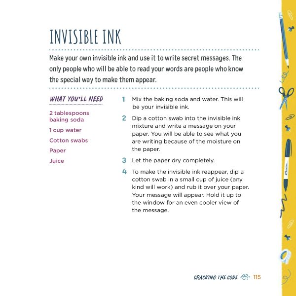 DIY Invisible Ink Recipe