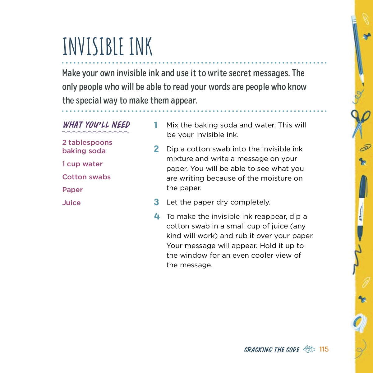 The Activity Mom Invisible Ink Recipe The Activity Mom