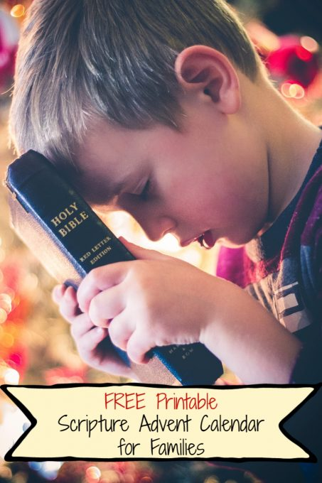 Scripture Advent Calendar for Families FREE Printable