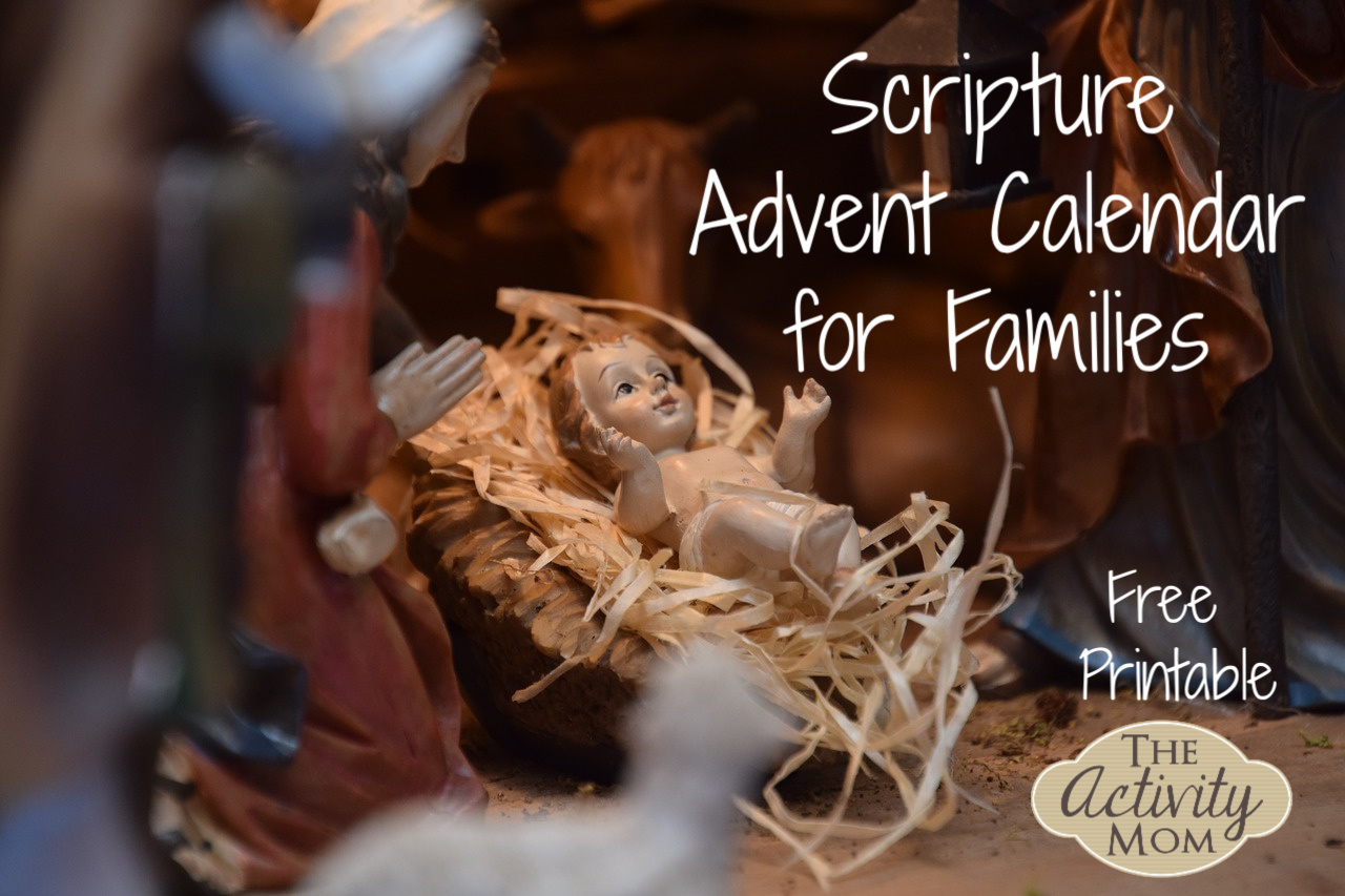 Scripture Advent Calendar for Families to Print for FREE