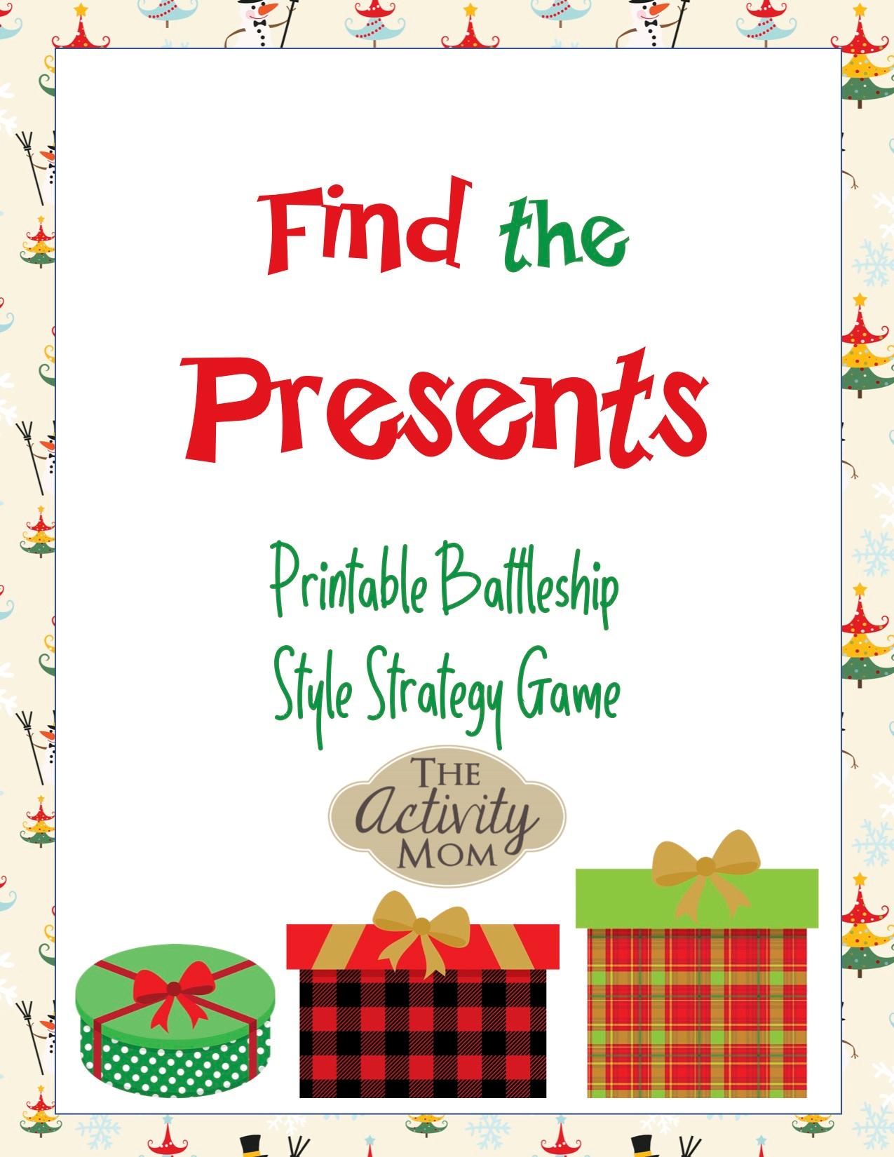 Free Printable Christmas Battleship Game