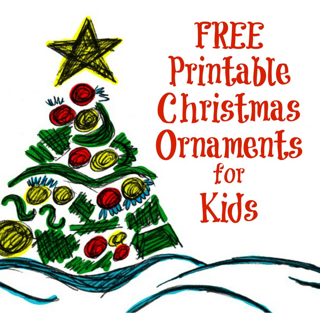 The Activity Mom - Printable Christmas Ornaments for Kids - The