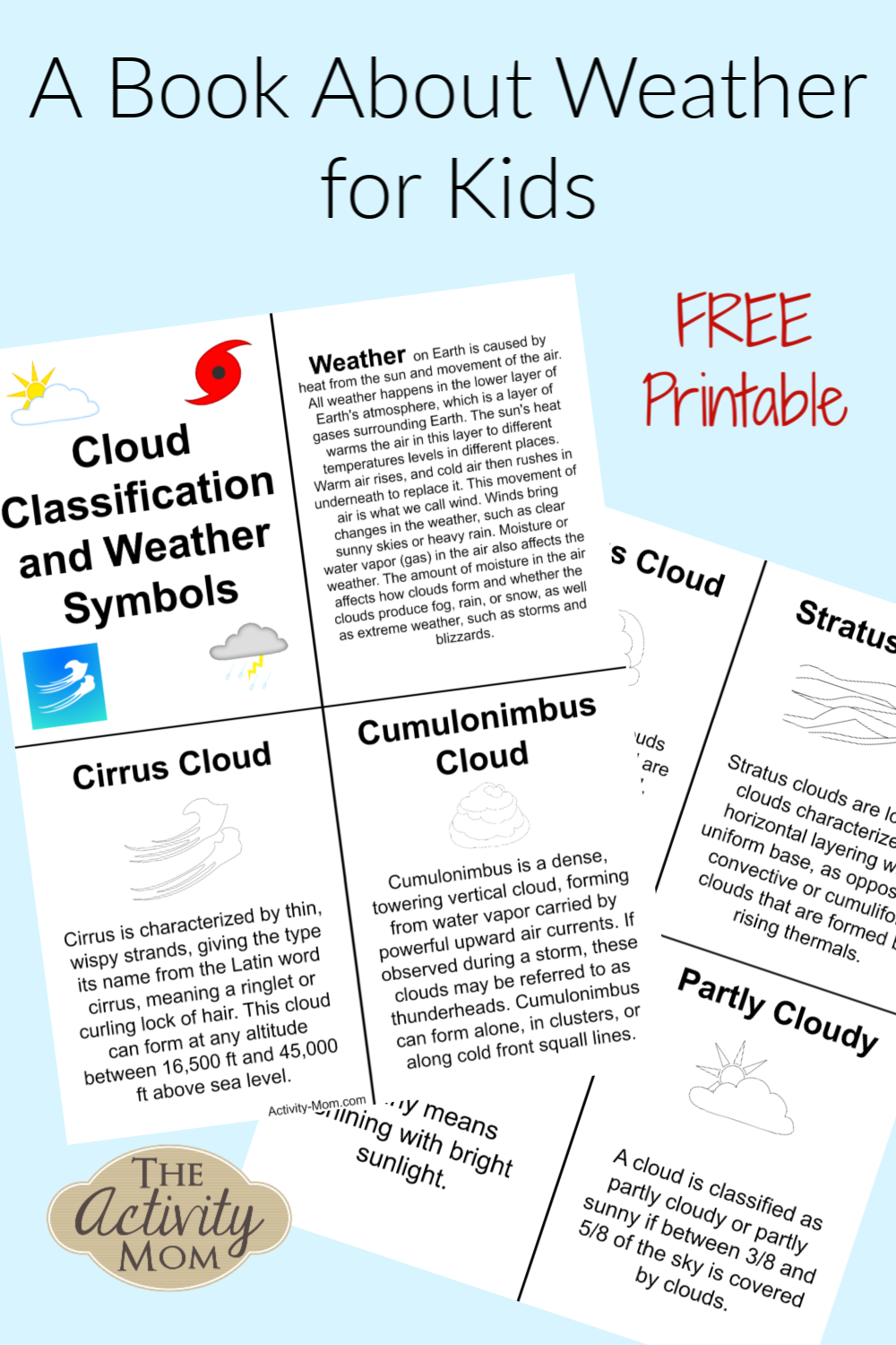 Weather book for kids