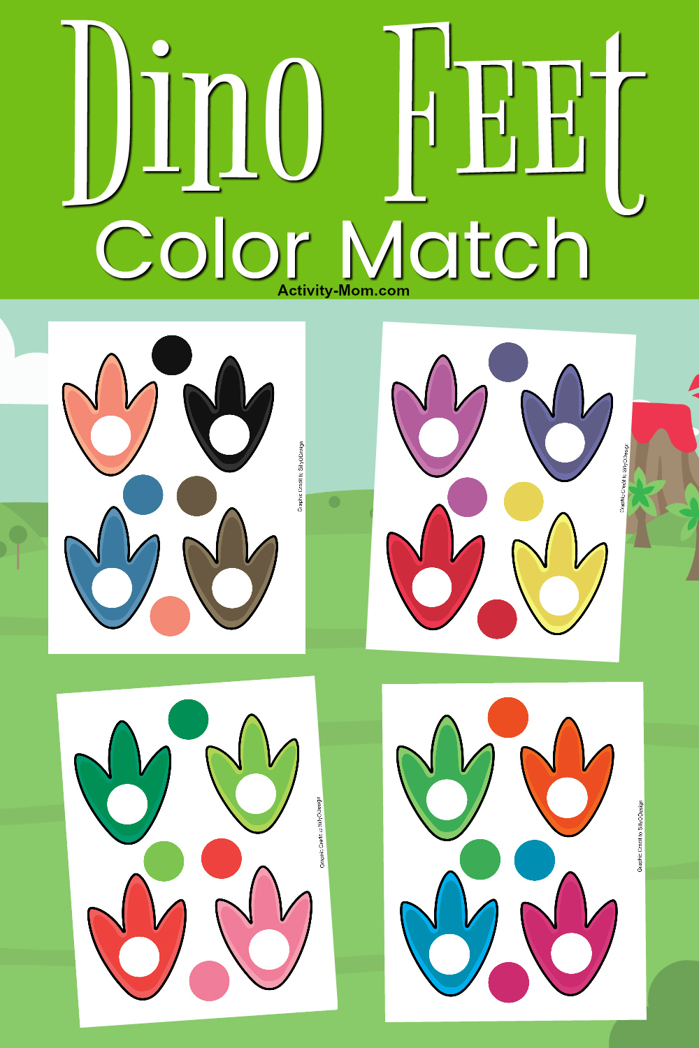 Dinosaur Color Matching FREE Printable