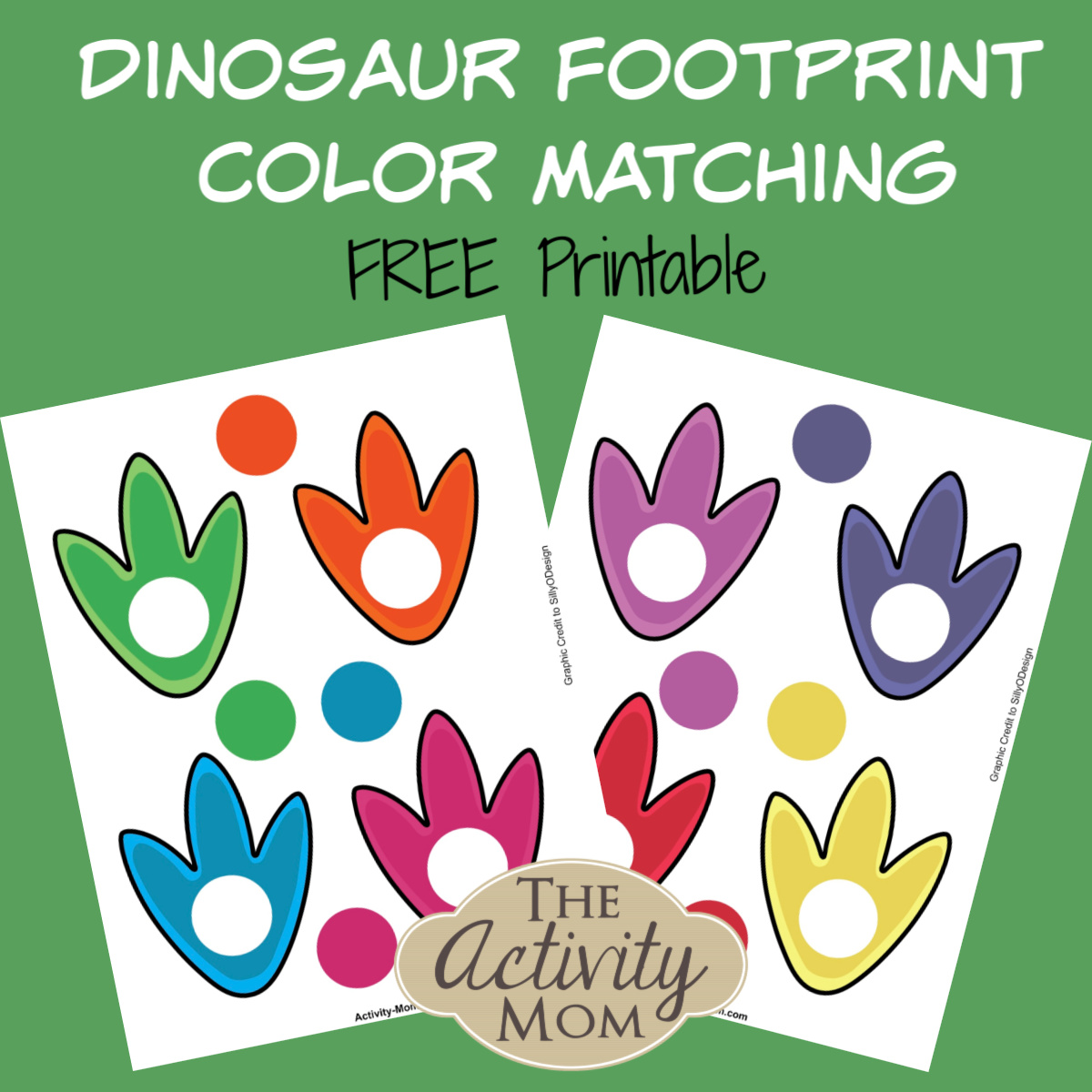 Dinosaur Footprint Color Matching