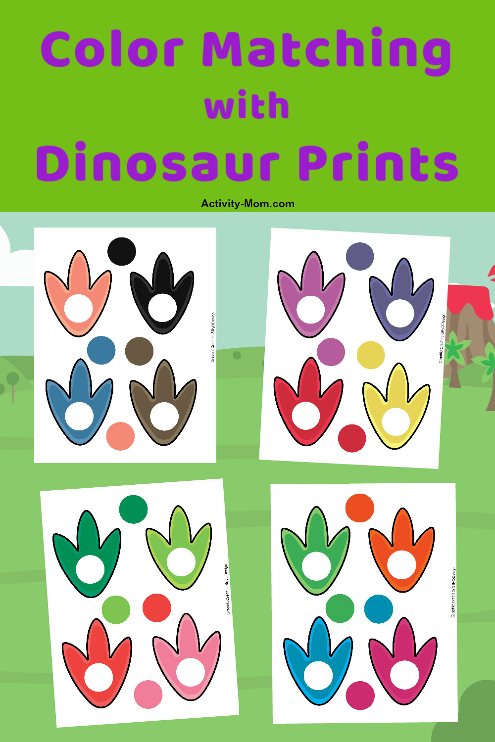 dinosaur color matching for kids free printable