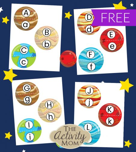 Solar System Letter Matching