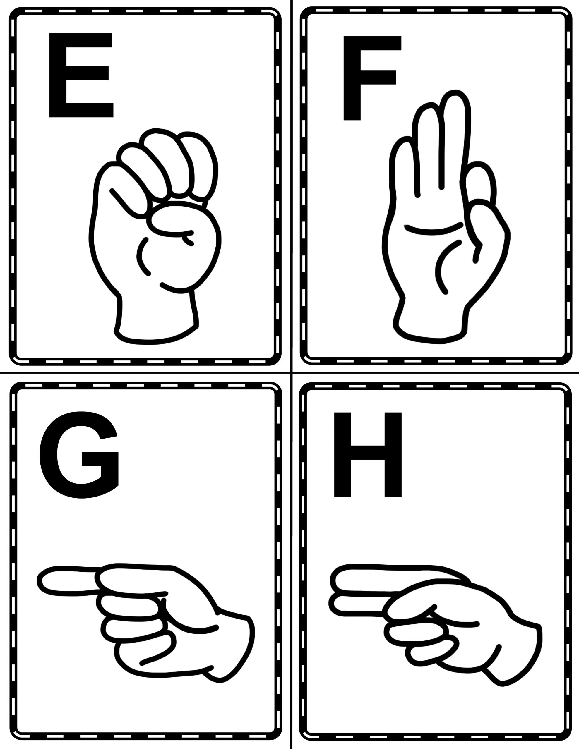 Sign Language Alphabet Book