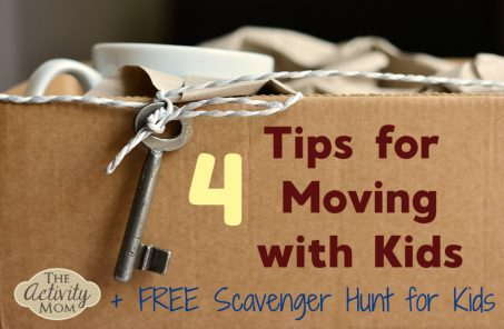 Kids Scavenger Hunt for Moving FREE