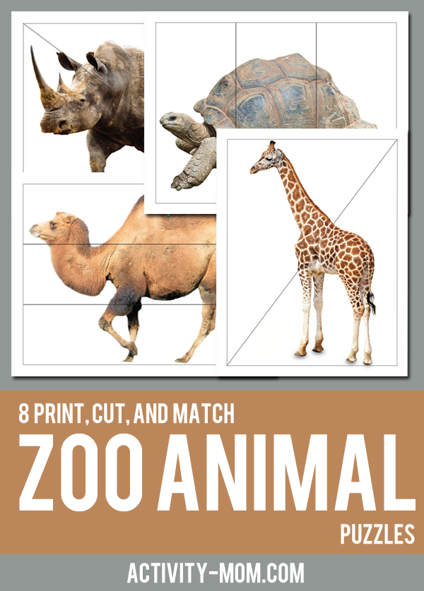 free printable zoo animal puzzles